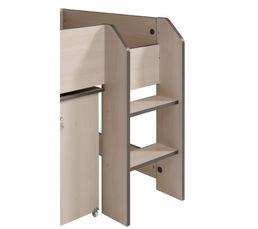 Lit combiné 2 tiroirs/1 niche HIPSTER 2318COMB