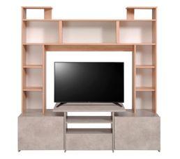 Meuble TV FORUM 9857PATV Chêne/béton