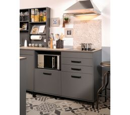 buffet bas 2 portes 2 tiroirs moove 0430bapt gris ombre meubles hauts et bas but. Black Bedroom Furniture Sets. Home Design Ideas