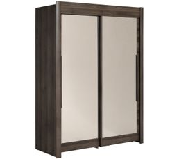 CELEBRITY Armoire  L. 156 cm imitation  noyer