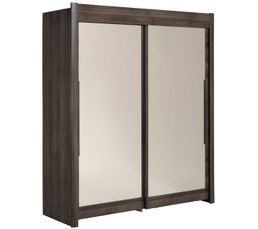 Armoire  L. 182 cm CELEBRITY imitation noyer