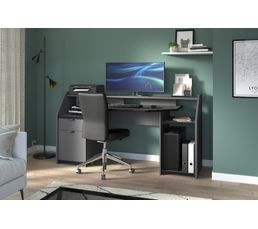 Bureau gamer darkuss gris led bureaux but
