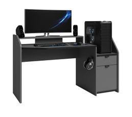 Bureau gamer DRAX gris