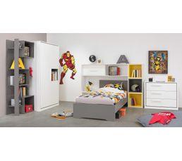 tête de lit avec rangement jeko 1 g 55 500 blanc - accessoires but