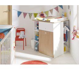 meuble langer dangle 1 porte 1 tiroir niches complices - Table A Langer D Angle