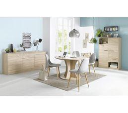 buffet 3 portes 1 tiroir palace imitation ch ne sonoma buffets but. Black Bedroom Furniture Sets. Home Design Ideas