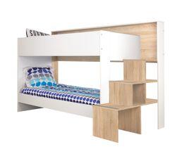 lit mezzanine 90x200 cm montana ch ne gris pas cher avis et prix en promo. Black Bedroom Furniture Sets. Home Design Ideas