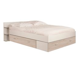 affordable tonight coloris pin blanchi et blanc with porte serviette but. Black Bedroom Furniture Sets. Home Design Ideas
