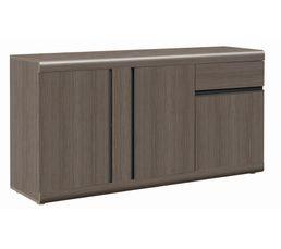 BAROLO Buffet 3 portes/1 tiroir Chêne/gris