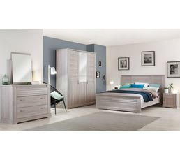 lit 140x200 cm thelma imitation ch ne c rus lits but. Black Bedroom Furniture Sets. Home Design Ideas