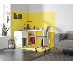 Bureau D Angle Twist Blanc Imitation Ch Ne Sonoma Bureaux But # Meuble Tv Placo D Angle
