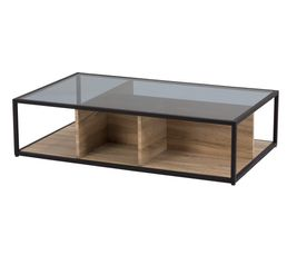 Table basse TEYTRIS Chêne et noir