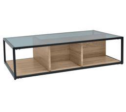 TEYTRIS Table basse Chêne et noir