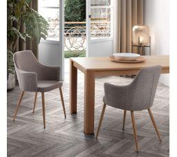 fauteuil de table sixty gris clair - Chaise De Table