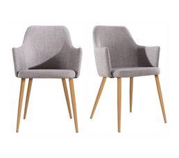 Lot de 2 fauteuils SIXTY pieds chêne