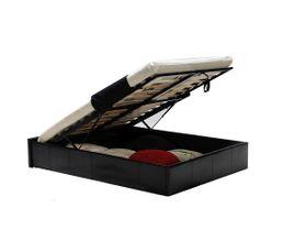 TORINO Lit avec coffre 140x190 cm noir