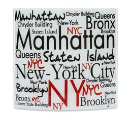 MANHATTAN WORDING Applique