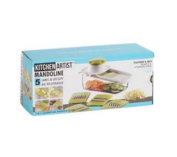 KITCHEN ARTIST Ustensiles Cuisine Mandoline 5 lames MEN217