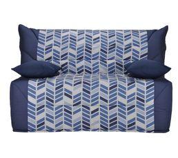 banquette lit bz california2 tissu trendy bleu a724 a152. Black Bedroom Furniture Sets. Home Design Ideas
