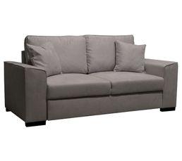 canap 3 places june tissu microfibre gris pas cher avis et prix en promo. Black Bedroom Furniture Sets. Home Design Ideas