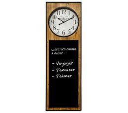 Horloge H115 cm ARDOISE Marron