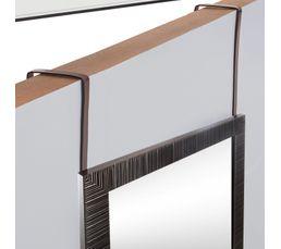 Miroir de porte H. 109 cm CLARISSE Noir