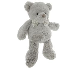 Ourson peluche H. 41 cm ROBBY Gris