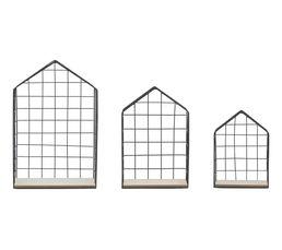 MAISON Set de 3 étagères H. 34 cm Noir