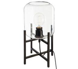Lampe à poser H. 35 cm LIVING Noir