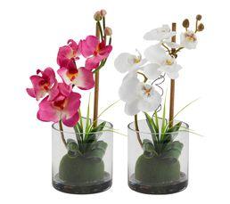 Vase ORCHIDEE COMPO Blanc/Violet
