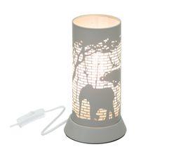 Lampe à poser ELEPHANT décor métal gris