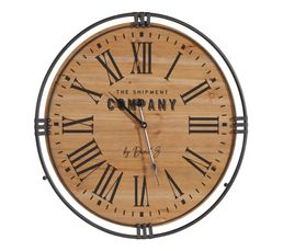Horloge D58 cm COLONIAL Naturel