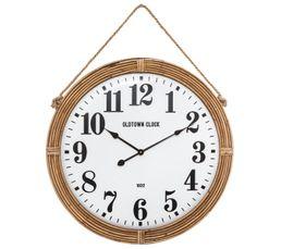 Horloge D72 cm CORDAGE Naturel / Blanc