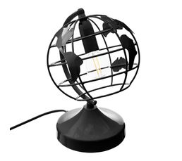 Lampe globe H. 24 cm  noir