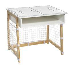 bureau cage de foot  blanc