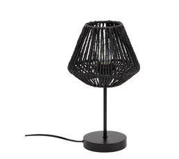 lampe droite corde H. 34 cm JILY noir