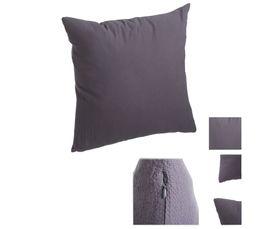 coussin 60x60 cm ethnic chic gris fonce coussins but. Black Bedroom Furniture Sets. Home Design Ideas