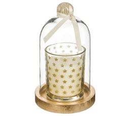 Bougie Sous Cloche Or