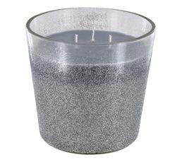 Bougie glitter BLANC GLACIER Argenté