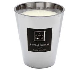 PARFUM GLAMOUR Bougie parfumée Jasmin 850g ARGENT
