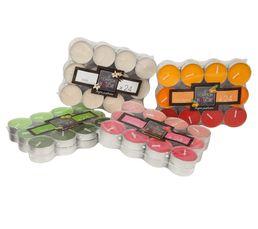 BOX Bougie parfum Ivoire/Orange/Rouge/Vert