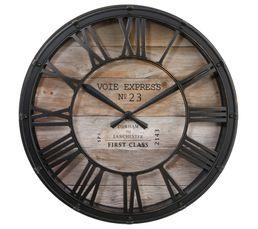Horloge ø 39 cm EXPRESS Marron