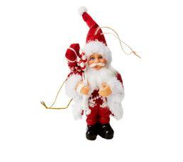 Ornement Père Noël H. 13  Rouge/blanc.