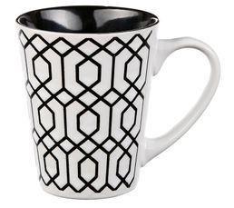 Mugs 30cl assortis GEOMETRIC Noir/Blanc