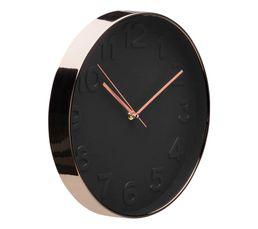COOPER Horloge ø 30 cm Noir/cuivre