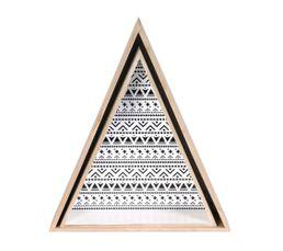 2 étagères triangles PALVA Bois motif noir