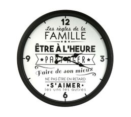 FAMILY CLOCK  Noir