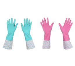 Gants de ménage imprimés ass Bleu/Rose