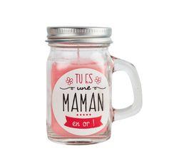 Bougies assorties FAMILY MASON JAR Rose / Bleu