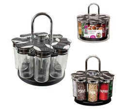 Carrousel épice 8 pots Noir